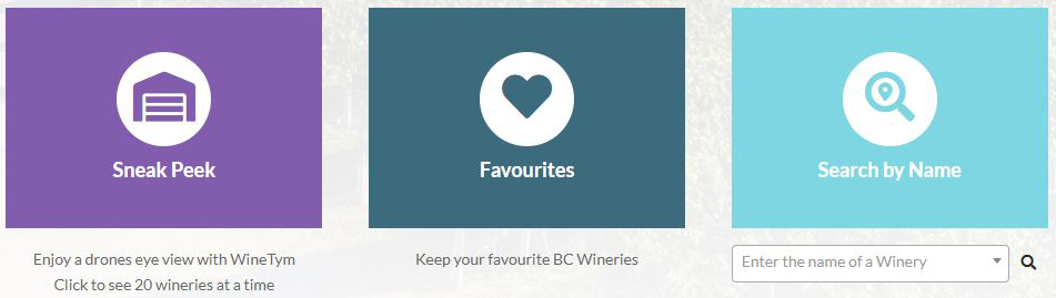 WineTym Website Search Box